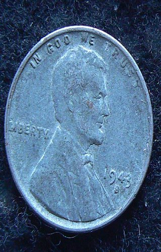 1943 S Lincoln Wheat Cent (VF-35)