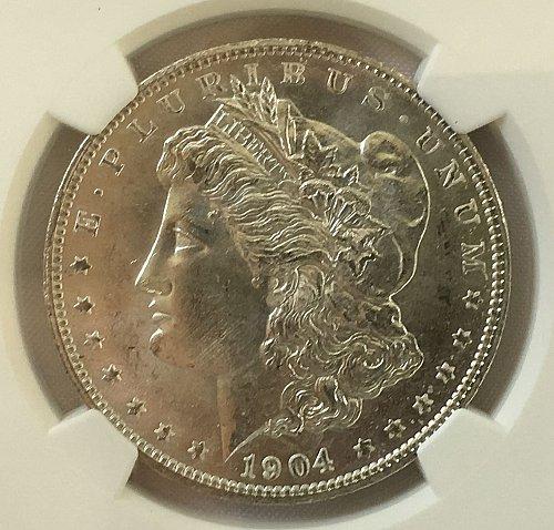 1904 O Morgan Dollar - NGC MS-64
