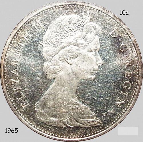 Canada, Dollar, 1965, Waterline,  , (Item 10)