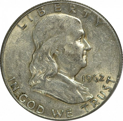 1962 D Franklin Half Dollar, (Item 168)
