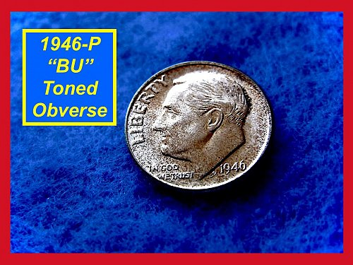 "1946-P Roosevelt Dime First Year ""BU"" Silver Dime   (#3282)"