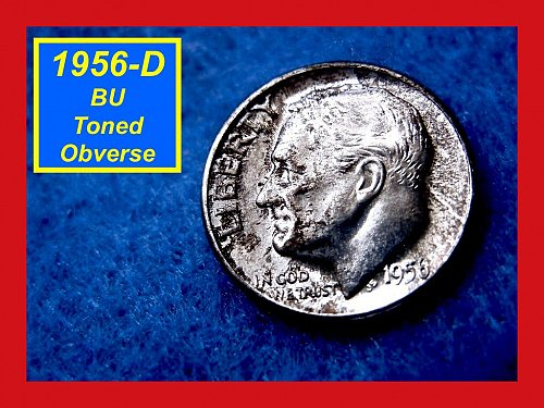 "1956-D Roosevelt Dime Gem ""BU"" Silver Dime   (#3299)"