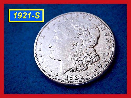 1921-S Morgan Silver Dollar •••  Circulated Condition  (#5240)