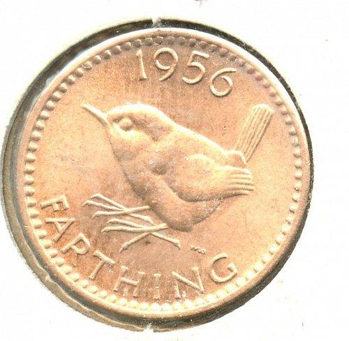 1956 British Farthing BU Copper