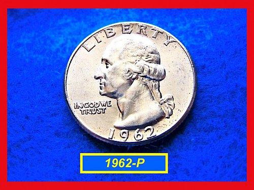 "1962-P Washington Quarter ⭕️ ""XF-AU Condition""  (#2361)"