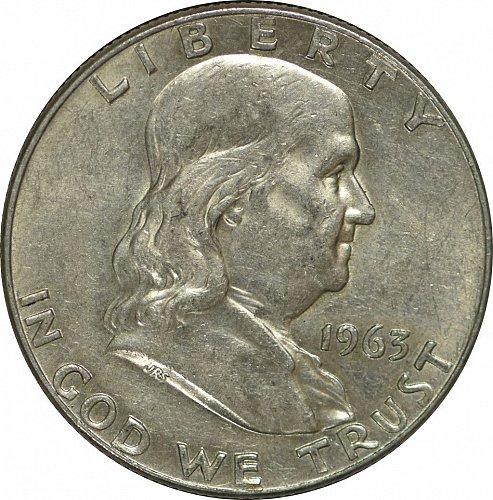 1963 D Franklin Half Dollar,  (Item 177)