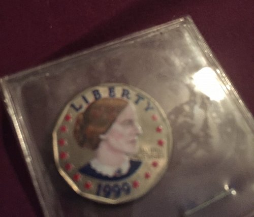 Painted 1999 Susan B Anthony Dollar