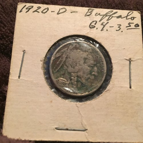 1020 D Buffalo Nickel