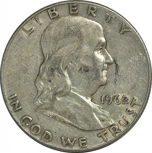 1962 D Franklin Half Dollar,  (Item 171)