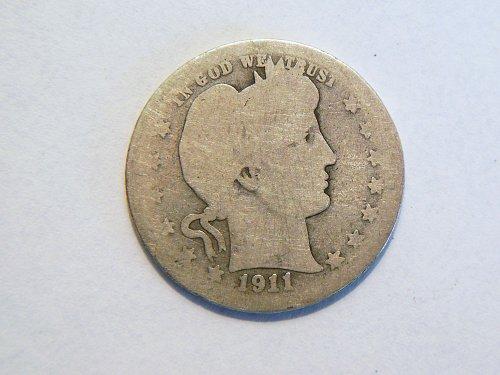 1911-S Silver Barber Quarter