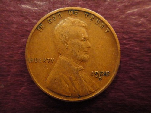 1925-D Lincoln Cent Very Fine-25 Nice Chocolate Brown With SHARP STRIKE!
