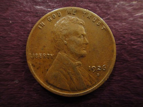 1926-D Lincoln Cent Almost Uncirculated-50 Nice Strike For This Date!