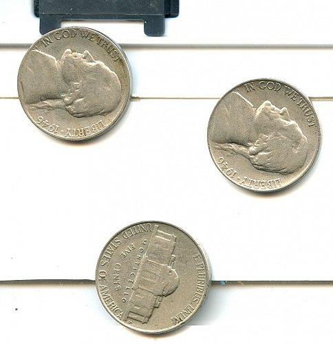 3, 1946 S Jefferson nickels