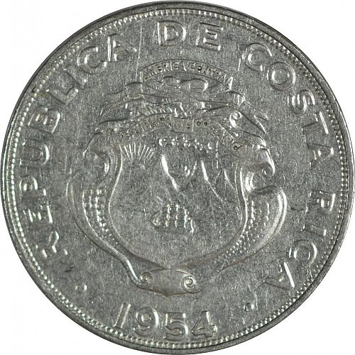 Costa Rica, 1 Colon, 1954,  (Item 17)