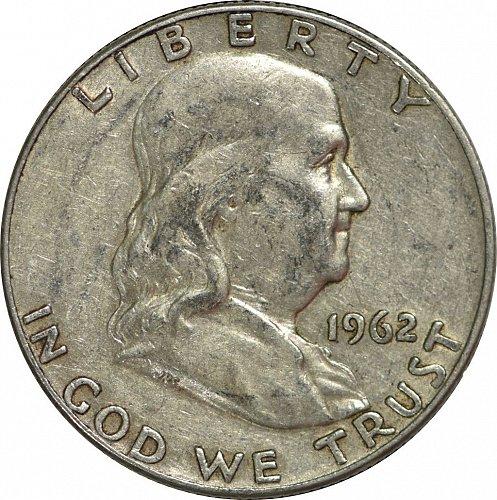 1962 D Franklin Half Dollar, (Item 172)