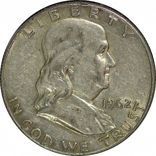 1962 D Franklin Half Dollar,  (Item 173)