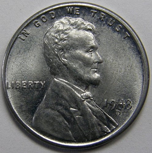 1943 D Lincoln Wheat Cent #5