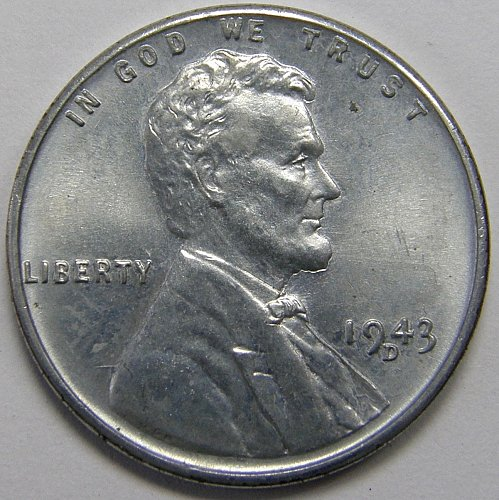 1943 D Lincoln Wheat Cent #9