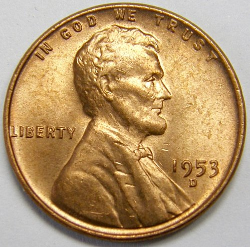 1953 D Lincoln Wheat Cent #4