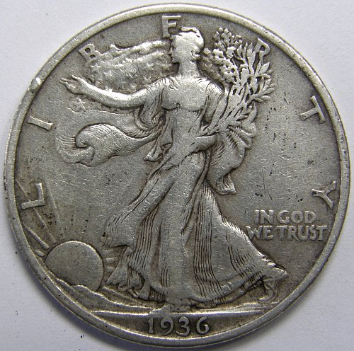 1936 P Walking Liberty Half Dollar #5LE