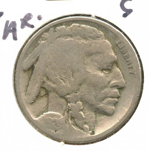1924 Buffalo nickel with serif on the C