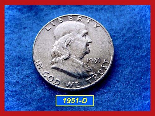 1951-D  Franklin Half Dollar –––     (#1516)