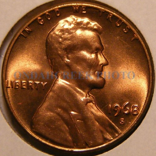 1968-S Lincoln Cent Gem BU plus