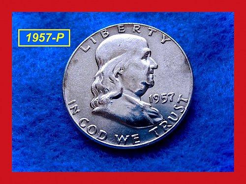 1957-P  Franklin Half ––  (#1518)