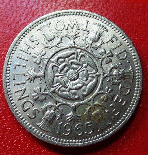 1965  g.b two shilling