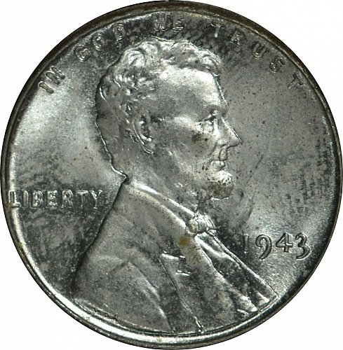1943  Lincoln Cent, Steel, (Item 34)