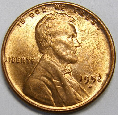 1952 D Lincoln Wheat Cent #5