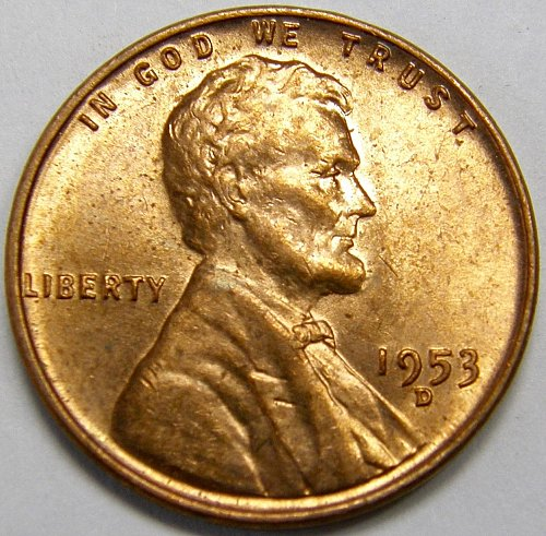 1953 D Lincoln Wheat Cent #5