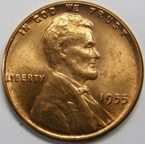 1955 P Lincoln Wheat Cent #10
