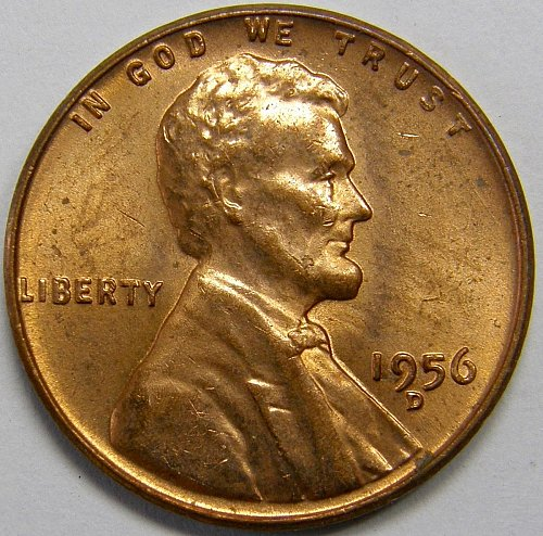 1956 D Lincoln Wheat Cent #4