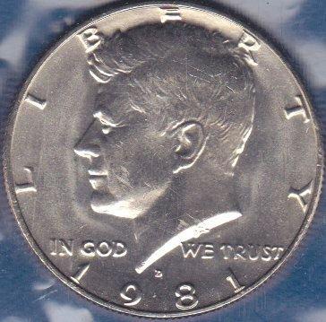 1981 D Kennedy Half Dollar, From Mint Set