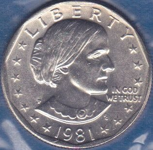 1981 P Susan B Anthony Dollar, From Mint Set