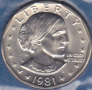1981 D Susan B Anthony Dollar, From Mint Set
