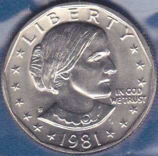 1981 S Susan B Anthony Dollar, From Mint Set