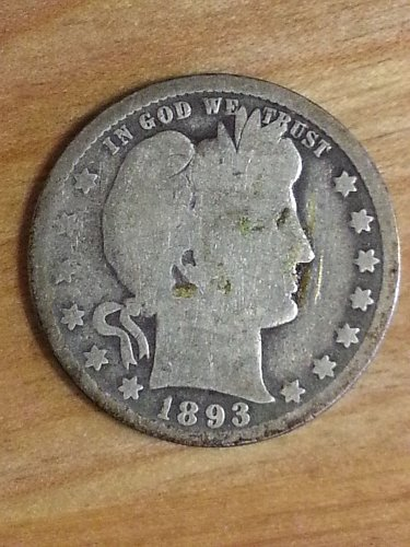 1893-O Barber Quarter