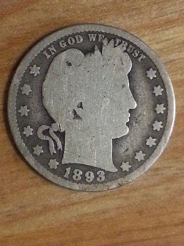 1893-S Barber Quarter