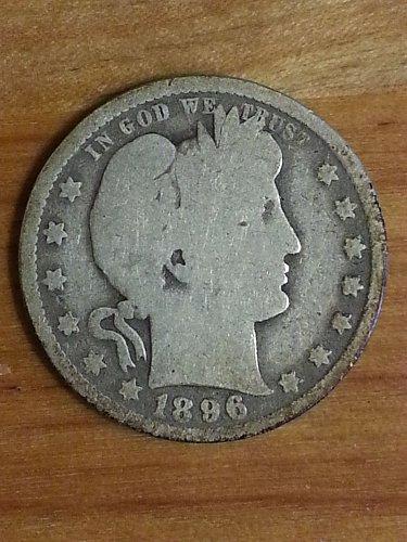 1896-O Barber Quarter