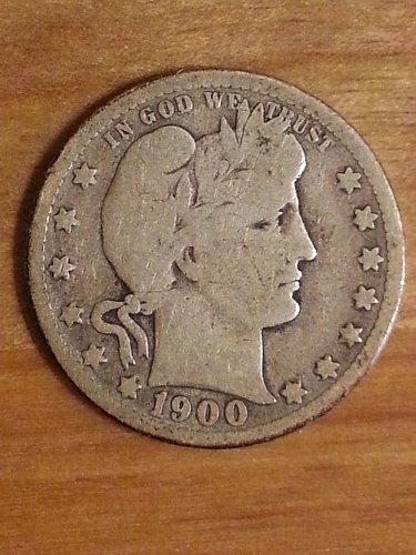 1900-O Barber Quarter