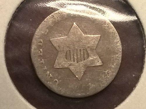 1851-P Three Cent (Silver)