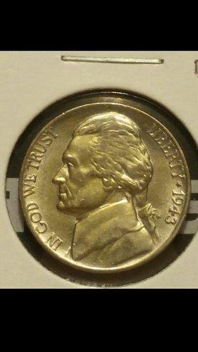1943-P nickel coneca ddo-22
