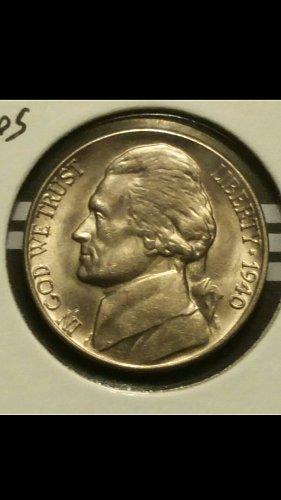 1940-D nickel coneca ddr-7