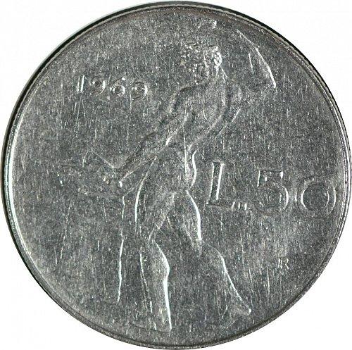 Italy, 50 Lire, 1969, (Item 50)