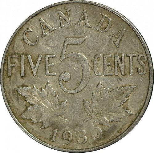 Canada, Five Cents, 1930, VF, (Item 53)
