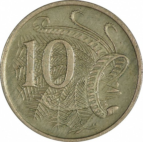 Australia, 10 Cents, 1968,  (Item 56)