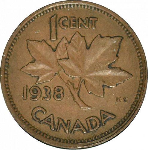 Canada, One Cent, 1938,  (Item 59)