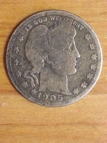 1905-S Barber Quarter